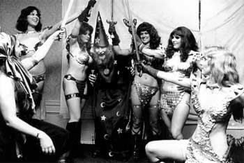 Frank Thorne and Models